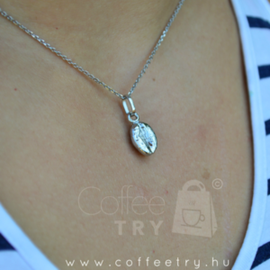 necklace, coffee bean,