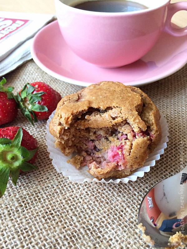 Epres muffin juharsziruppal